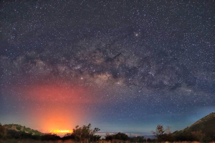 キラウエア火山と星のトワイライトツアー